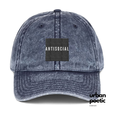 Antisocial -Hat Blue Hats
