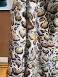 Clouded Leopard Faux Fur Notch Collar Stroller