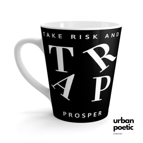 Take Risk And Prosper Black Mug