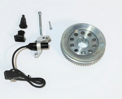 Datsun L-Series Crank Pulley with Trigger wheel, Mount and CAS Sensor
