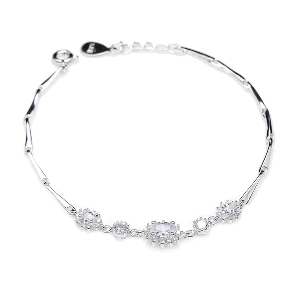 CZ Bracelet in Sterling Silver