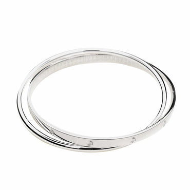 Double Bangle in .999 Silver