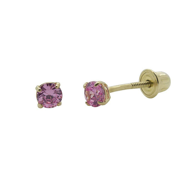 10K Gold and CZ Baby Earrings