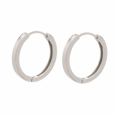 Plain Hoop Earrings in Sterling Silver