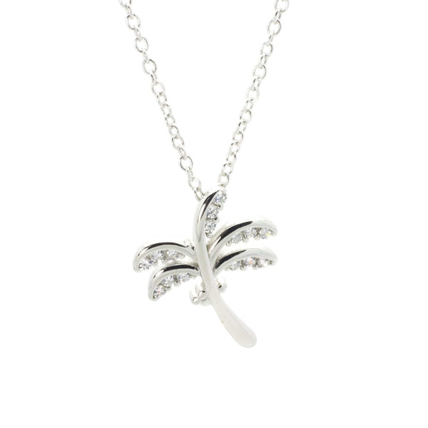Coco Palm Pendant in Sterling Silver