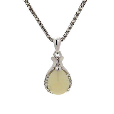 Butterfly Chalcedony Pendant in Sterling Silver