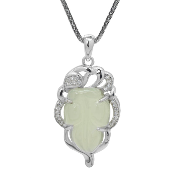 Jade Pendant Set in Sterling Silver