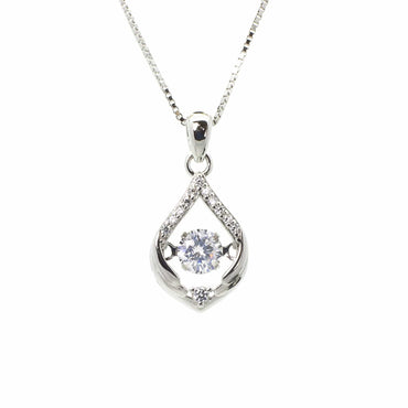 CZ Pendant Set in Sterling Silver
