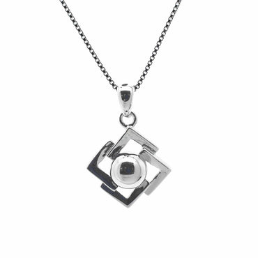 Geometric Pendant in Sterling Silver