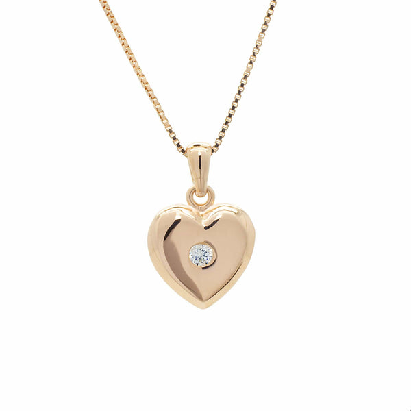 Heart Pendant in Rose Gold over Sterling Silver