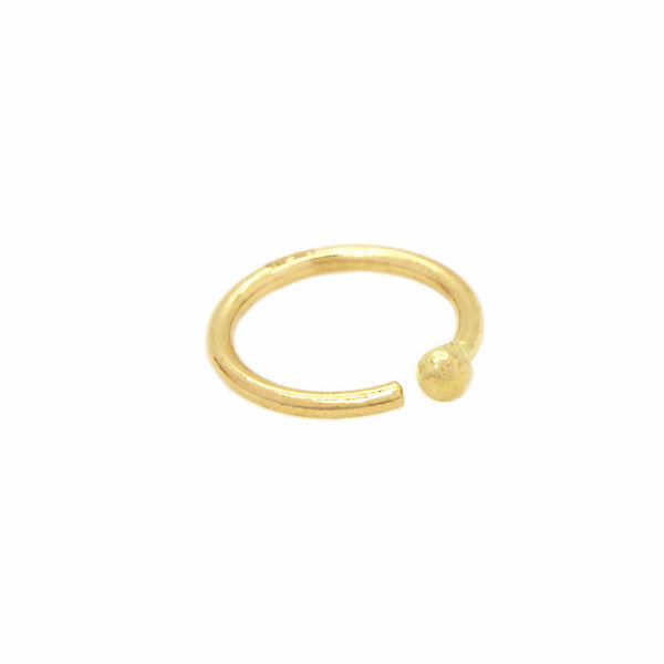 14K Gold Nose Hoop with Ball