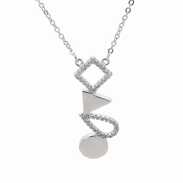 Tumbling Shapes Necklace in Sterling Silver