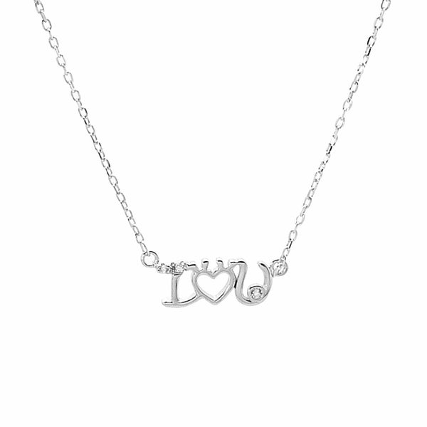 """I Love You"" Necklace in Sterling Silver"