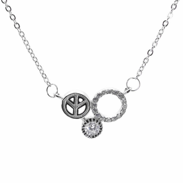 Triple Circle Necklace in Sterling Silver