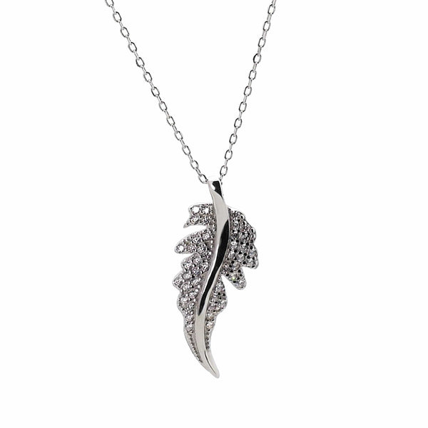 Leaf Necklace in Sterling Silver