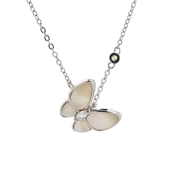 Butterfly Pendant Necklace in Sterling Silver