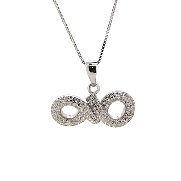 Infinity Pendant Necklace in Sterling Silver