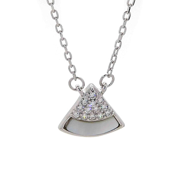 Pyramid Pendant Necklace in Sterling Silver