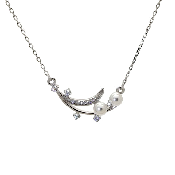 Pearl Pendant Necklace in Sterling Silver