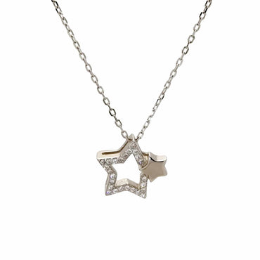 Star Pendant Necklace in Sterling Silver
