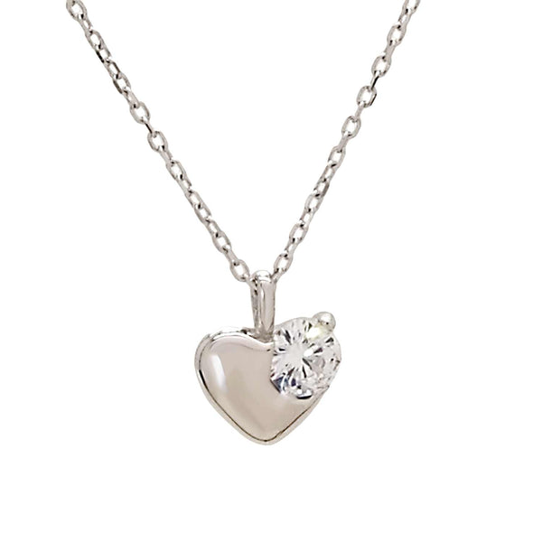Heart Pendant Necklace in Sterling Silver