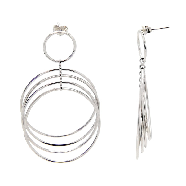 Concentric Circle Post Earrings in Sterling Silver