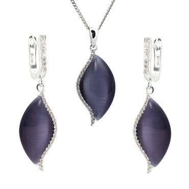 Earring and Pendant Set in Sterling Silver