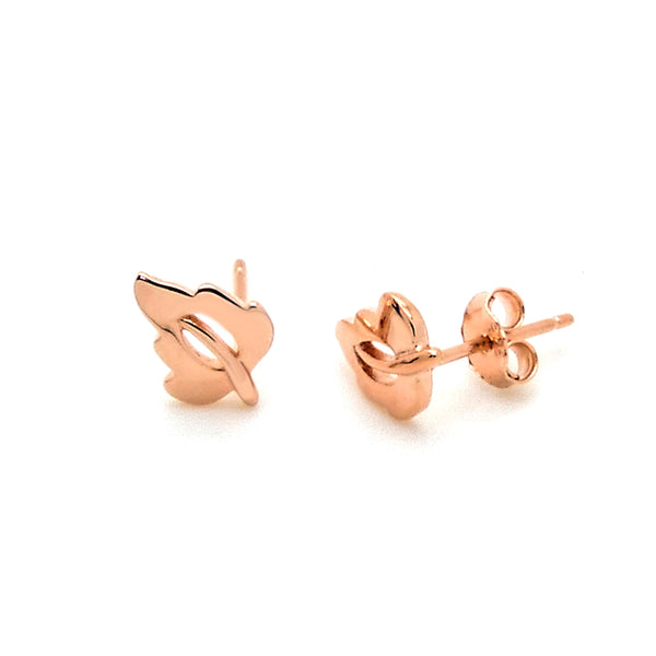 Stud Earrings in Sterling Silver with Rose Gold Finish