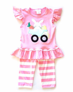 Easter 2pc pink striped