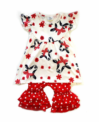 Farm girl ruffle set