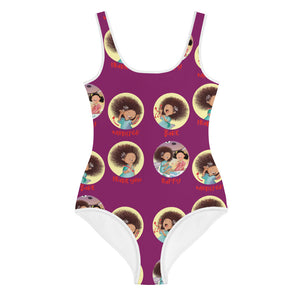 Nathaly the Brave Signs print Youth Swimsuit