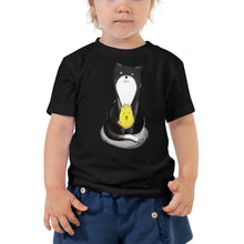 Load image into Gallery viewer, Sitting Kitty & Chick Toddler Short Sleeve Tee