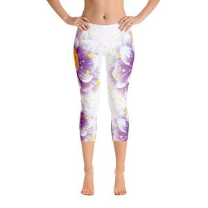 Women's Flower Capri Leggings