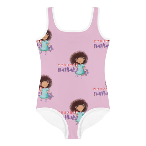 Nathaly the Brave Print Kids Swimsuit
