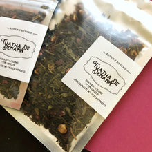 Load image into Gallery viewer, The Tuatha De Denann - berries & creme green loose leaf tea blend
