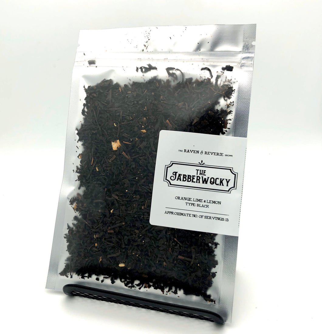 The Jabberwocky tea - orange lemon and lime black tea