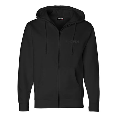 Kingpen Black Zip Up Hoodie