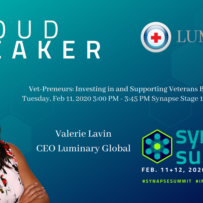 Luminary CEO Valerie Lavin - Speaker Synapse Summit 2020 February 11-12, 2020