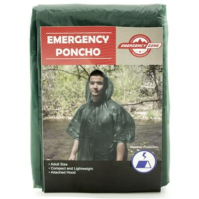 Emergency Poncho - Green - Emergency Zone