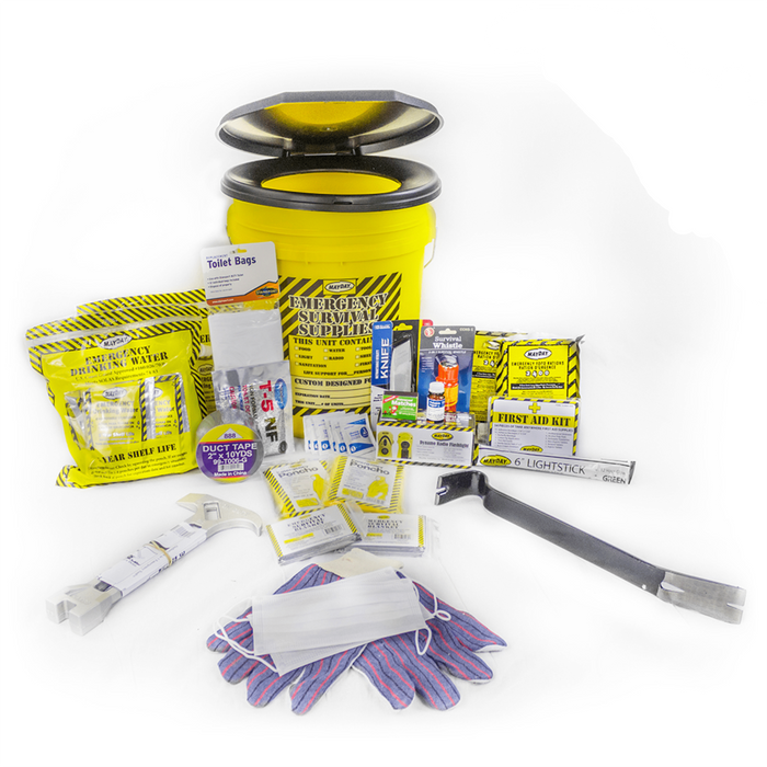 Deluxe Emergency Bucket Kit - (2 Person Kit) - MayDay Industries