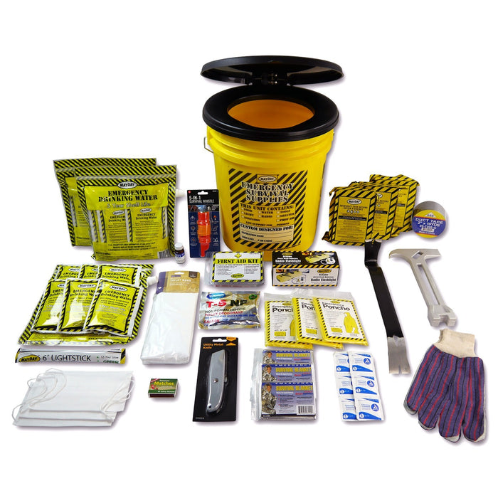 Deluxe Emergency Bucket Kit - (3 Person Kit) - MayDay Industries