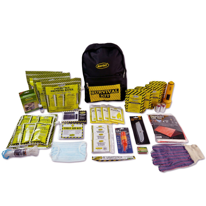 Deluxe Emergency Backpack Kit (4 Person Kit) - MayDay Industries
