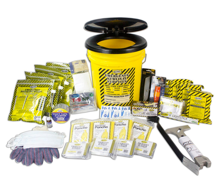 Deluxe Emergency Bucket Kit - (4 Person Kit) - MayDay Industries