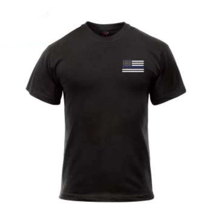 Rothco Honor and Respect 2-Sided Thin Blue Line Flag T-Shirt