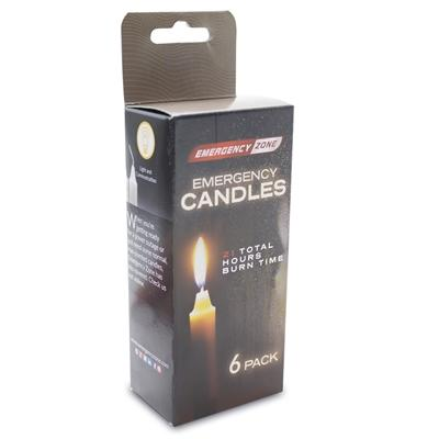 Candles 6 Pack - Emergency Zone