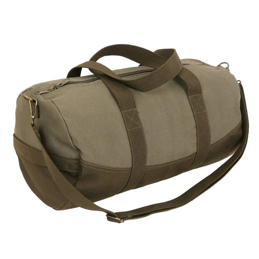 Rothco Two-Tone Canvas Duffle Bag With Brown Bottom  | Luminary Global