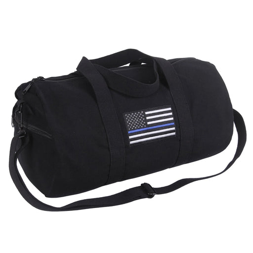 Rothco Thin Blue Line Canvas Shoulder Duffle Bag | Luminary Global