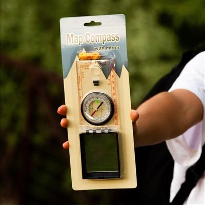 Lensatic Map Compass - Emergency Zone