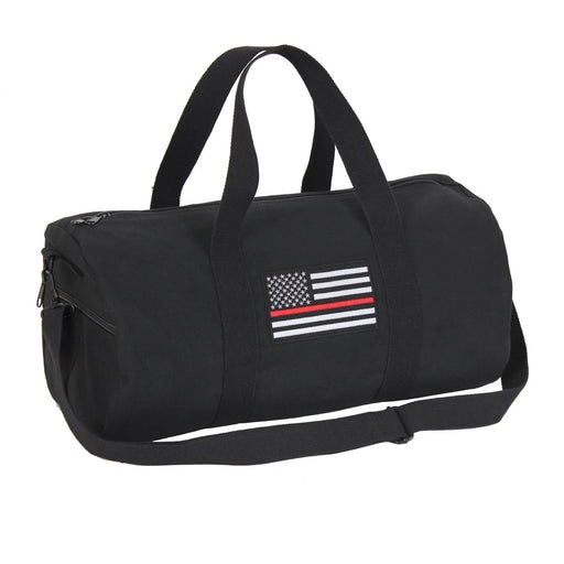 Rothco Thin Red Line Canvas Shoulder Duffle Bag - 19 Inch | Luminary Global