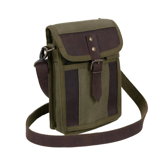 Rothco Canvas Travel Portfolio Bag with Leather Accents | Luminary Global